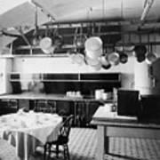 White House Kitchen, 1901 Art Print