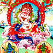 White Jambhala  2 Art Print