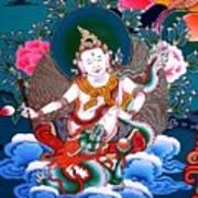 White Jambhala 4 Art Print