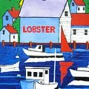 White Lobster Shack Art Print