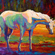 White Mare II Art Print by Marion Rose
