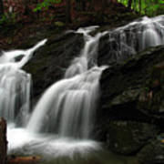 White Mountains Waterfall Art Print by Juergen Roth