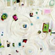 White On White Abstract Art Print