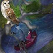 White Owl Magic Art Print