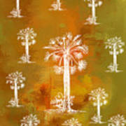 White Palms Gold Art Print