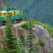 White Pass Train Alaska - Canada Art Print