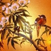 White Pear Blossom Art Print
