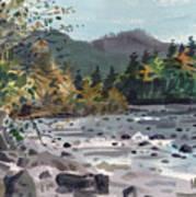White River In Autumn Art Print