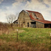 White River Trace Barn 2 Art Print