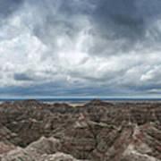 White River Valley Overlook Panorama 2  Art Print