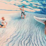 White Sands Family Art Print