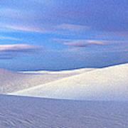 White Sands National Monument, Sunset Art Print