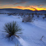White Sands Sunset Art Print