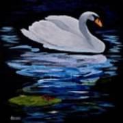 White Swan Art Print