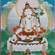 White Tara Chintamani Sita Tara Art Print