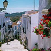 White Village Of Frigiliana Andalucia., Spain Art Print