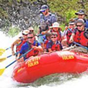 July In Oregon, White Water Rafting Art Print