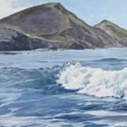 White Wave At Crackington  Art Print