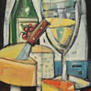 White Wine And Cheese Art Print