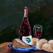 White Wine Art Print