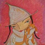 White Witch And Kitty Poo Art Print