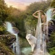 White Wolf Falls Art Print