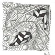 White Zen 18 Art Print