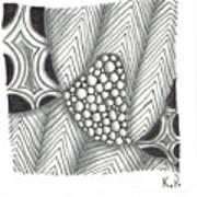 White Zen 19 Art Print