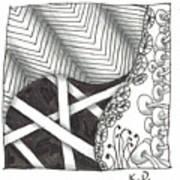 White Zen 21 Art Print