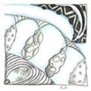 White Zen 23 Art Print