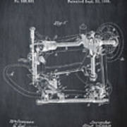 Whitehill Sewing Machine Patent 1885 Chalk Art Print