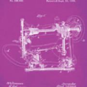 Whitehill Sewing Machine Patent 1885 Pink Art Print