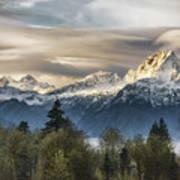 Whitehorse Sunrise, Flowing Clouds Art Print