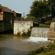 Whitewater Canal Locks Metamora Indiana Art Print