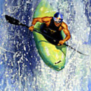 Whitewater Kayaker Art Print