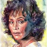 Whitney Houston Portrait Art Print