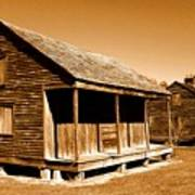 Whitney Plantation Slave Cabins Art Print