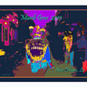 Who Dat At Night In The Quarter Art Print
