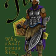 Who Shall Rouse Judah-yellow Trim Art Print