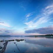 Wide Angled Sunset Over Moosehead Lake Art Print