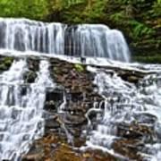 Wide Flowing Falls Art Print