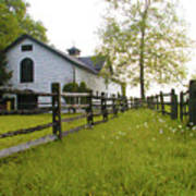Widener Farms Horse Stable Art Print