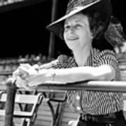 Wife Of The  The Arkansas Hummingbird Lon Warneke, Watches The Game From The Stands. 1939 Art Print