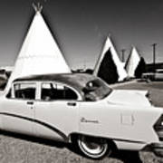 Wigwam Motel Classic Car #2 Art Print