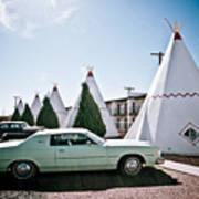 Wigwam Motel Classic Car #3 Art Print