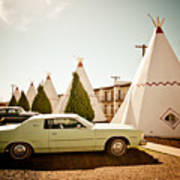 Wigwam Motel Classic Car #4 Art Print