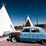 Wigwam Motel Classic Car #7 Art Print
