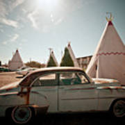 Wigwam Motel Classic Car #8 Art Print
