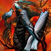Wild Birds Art Print by Carol Cavalaris