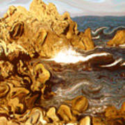 Wild California Coast - Modern Art Art Print